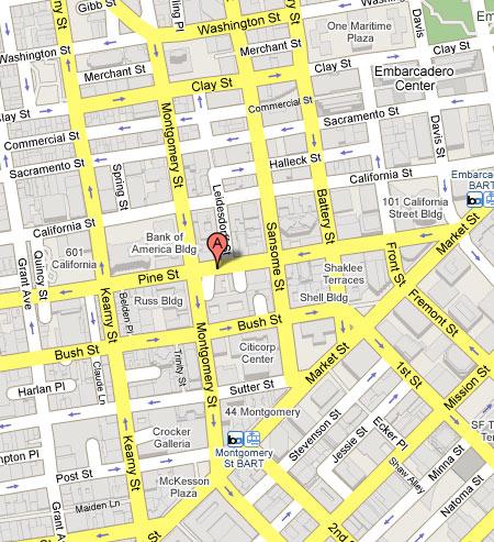 San Francisco Map Downtown